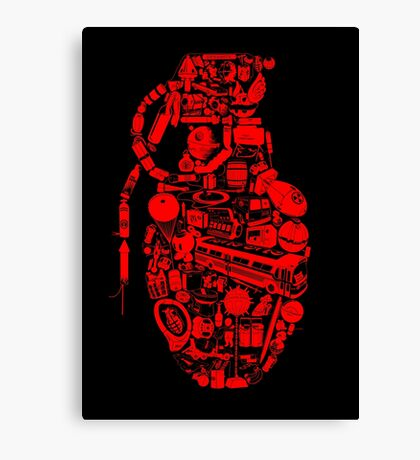 BOOM! -red- Canvas Print