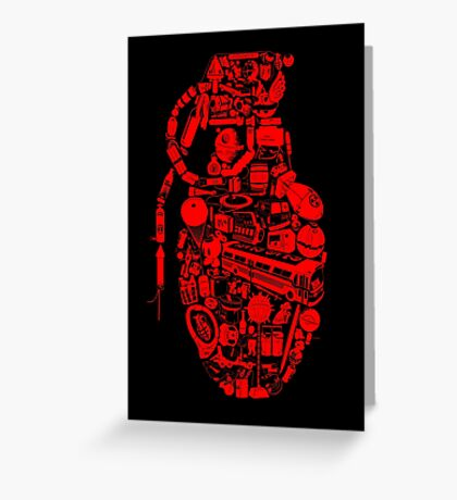 BOOM! -red- Greeting Card