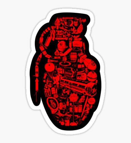 BOOM! -red- Sticker