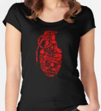 BOOM! -red- Women's Fitted Scoop T-Shirt