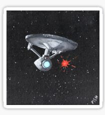 Enterprise A Torpedo Launch Print Sticker