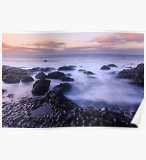 Giant's Causeway Sunset Poster