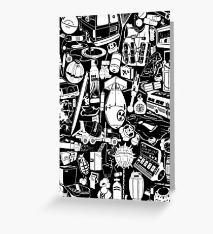 Things that go... BOOM!!! -white- Greeting Card