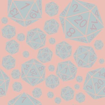Crit Win and Crit Fail Pastel-Pink/Blue by thecraftydino