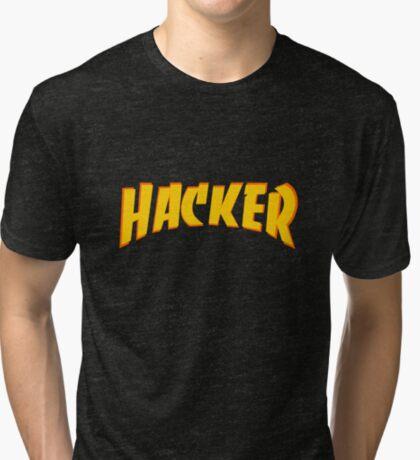 Hacker 2.0 - Thrasher style Tri-blend T-Shirt