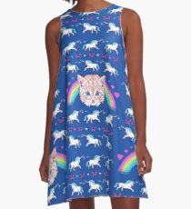 Most Meowgical Sweater A-Line Dress