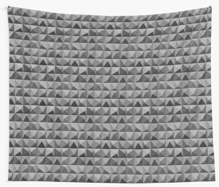Abstract Geometric Shapes Triangles Grey Pattern by tanabe