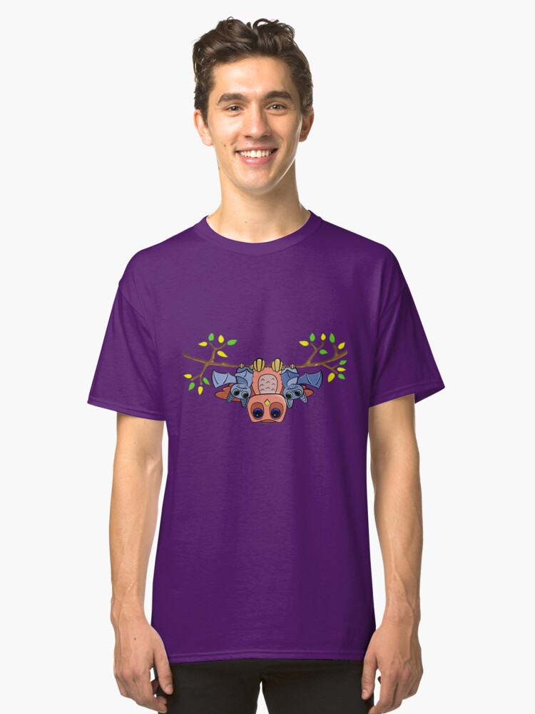 Hey Y'Owl - Owl and Bat friends Classic T-Shirt Front
