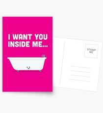 Character Building - Valentines - Bathtub - Inside Me Postcards