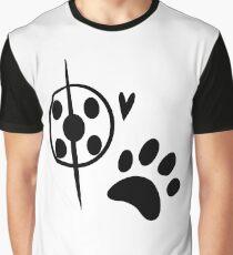 Miraculous Ladybug Chat Noir and Ladybug Signatures Graphic T-Shirt
