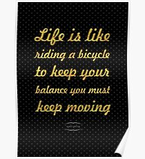 """Life is like... """"Albert Einstein"""" Inspirational Quote Poster"""