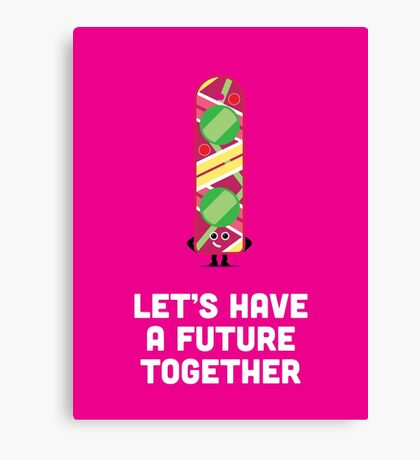 Character Building - Valentines - Hoverboard - Future Canvas Print