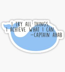 Inspirational Literary Quote Moby Dick Sticker