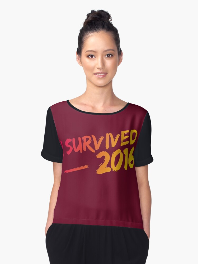 I Survived 2016 Women's Chiffon Top Front