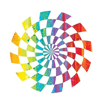 spiral rainbow illusion by PURPLERAIN99