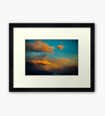 Amazing Sunset Cloud Scene in the Sky  Framed Print