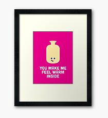 Character Building - Valentines - Hot Water Bottle Framed Print