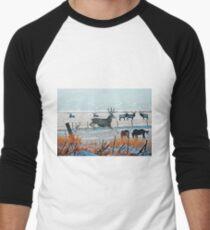 Winter Wildlife Men's Baseball ¾ T-Shirt