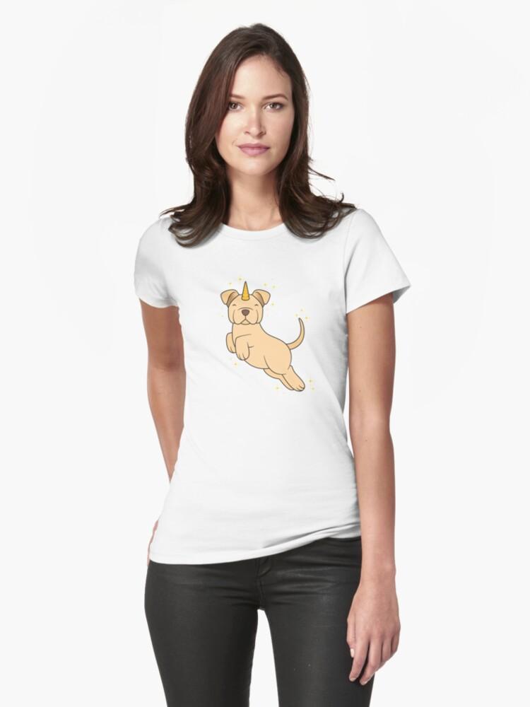 Golden Unidog Womens T-Shirt Front