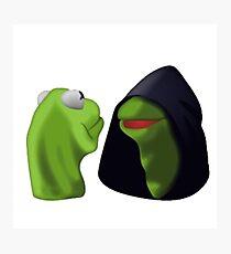Evil Kermit / Kermit To Kermit Meme Photographic Print