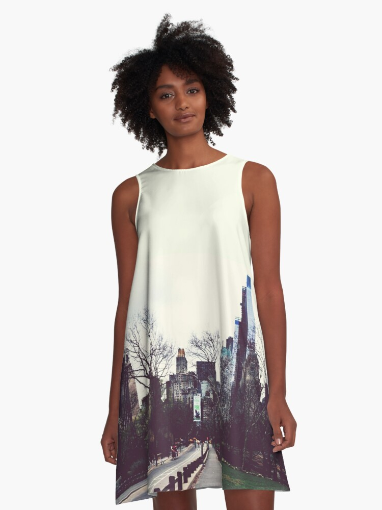 New York City A-Line Dress Front