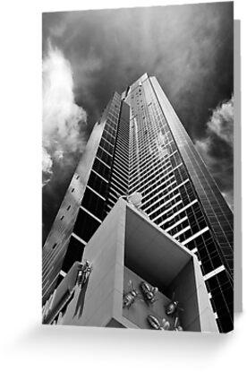 Climbing the walls - Euraka Tower - Melbourne by Norman Repacholi