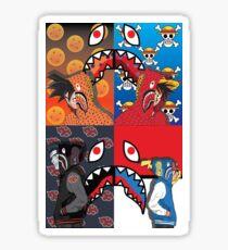 one piece naruto dragonball z and pokemon supreme Sticker
