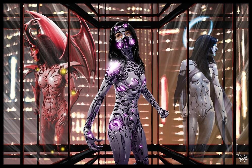 Cyberpunk Painting 083 by Ian Sokoliwski