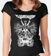 Electric Wizard - Baphomet (White) Women's Fitted Scoop T-Shirt