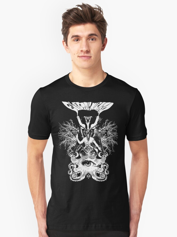 Electric Wizard - Baphomet (White) Unisex T-Shirt Front