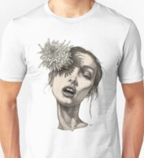 Katty with the big white flower Unisex T-Shirt