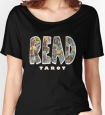 Be Well Read - READ TAROT (Black) Women's Relaxed Fit T-Shirt