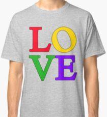 LOVE Pop Art Bold Colors Classic T-Shirt