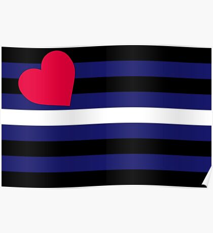 Leather, Latex and BDSM Pride Flag Poster