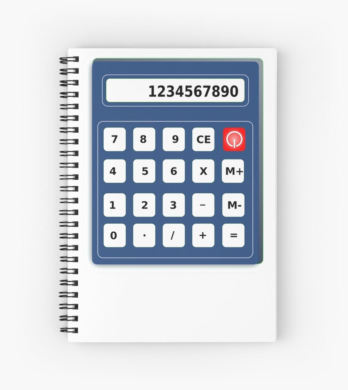 human calculator cool design math pi tshirt spiral notebooks by
