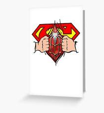 Super Hero Man Spider Hero Man Awesome Shirt Greeting Card