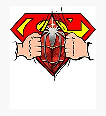 Super Hero Man Spider Hero Man Awesome Shirt Photographic Print