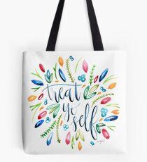 Treat Yo Self Florals Tote Bag