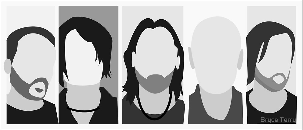 RADIOHEAD VECTOR ART by Bryce Terry