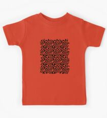 Abstract Geometric Triangle pattern Black and white Kids Tee
