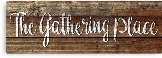 The Gathering Place Hanging Art by LESLIEDYESIGN