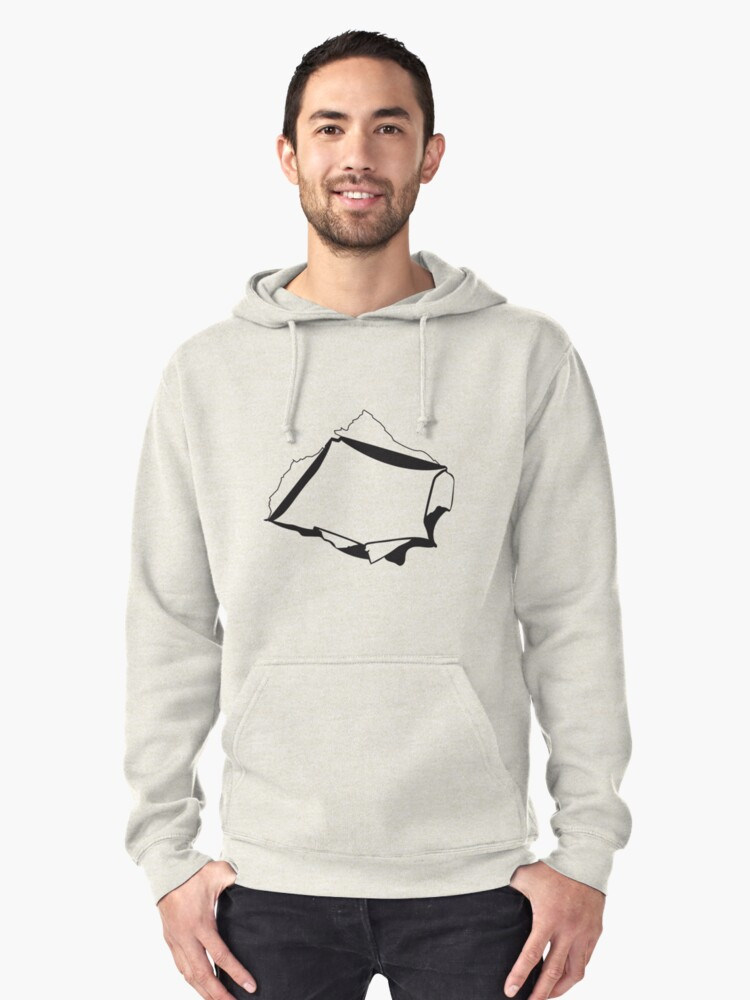 hole Pullover Hoodie Front
