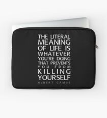 Albert Camus and the meaning of life Laptop Sleeve