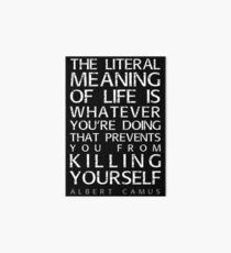 Albert Camus and the meaning of life Art Board Print