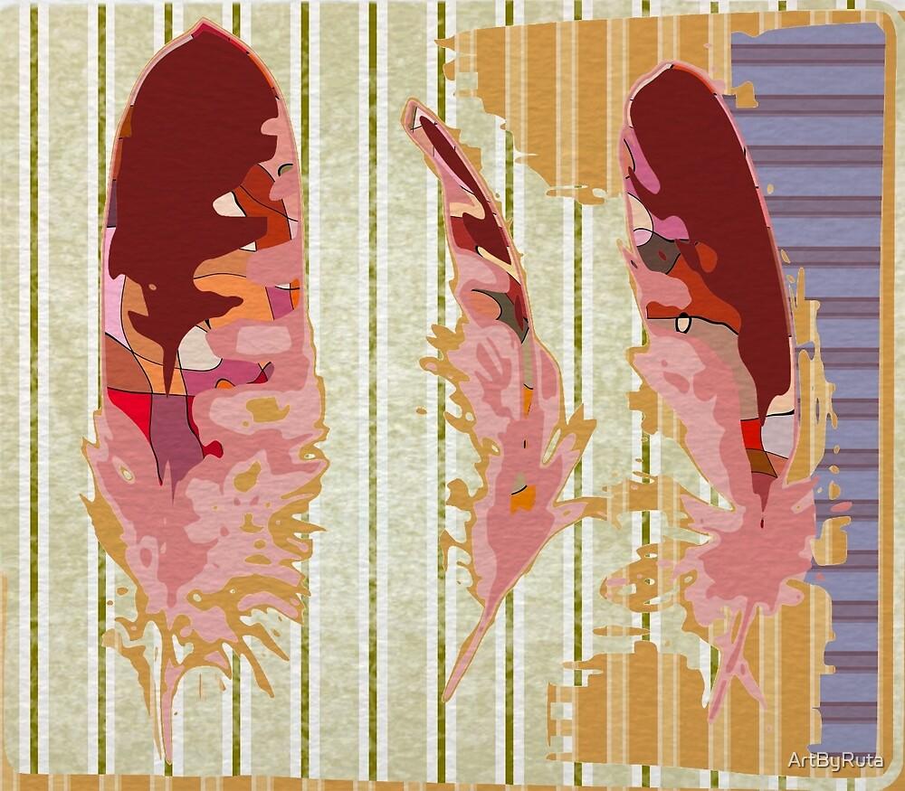 Three Feathers by ArtByRuta