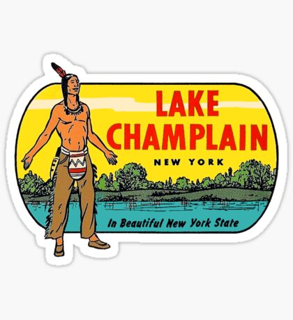 Lake Champlain New York State Vintage Travel Decal Sticker