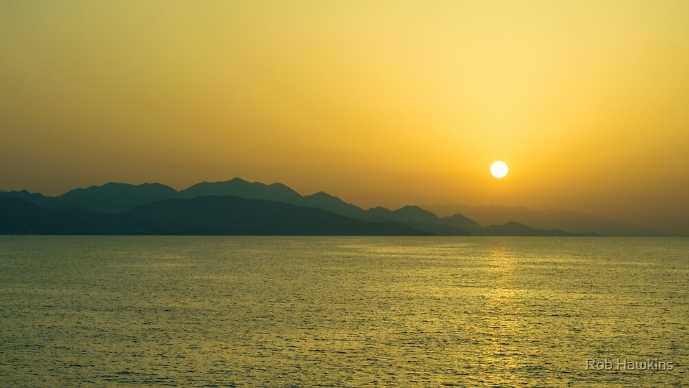 Cretan Sunset  by Rob Hawkins