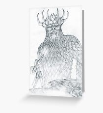 Morgoth and Fingolfin Greeting Card