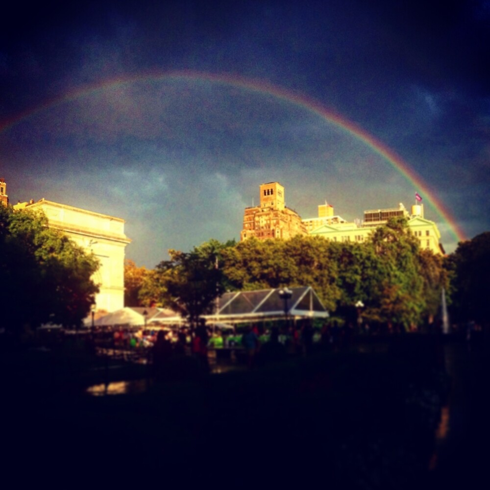 Washington Square Park Rainbow by BecHalp