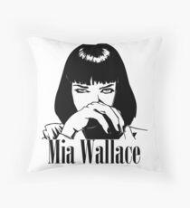Mia Wallace Throw Pillow